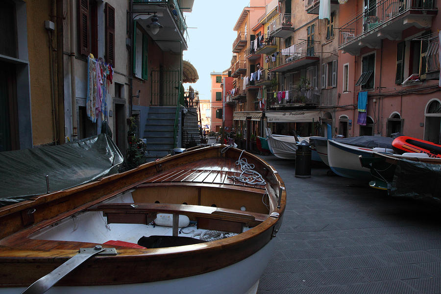 Manarola Photograph - Downtown Manarola by Susan Rovira