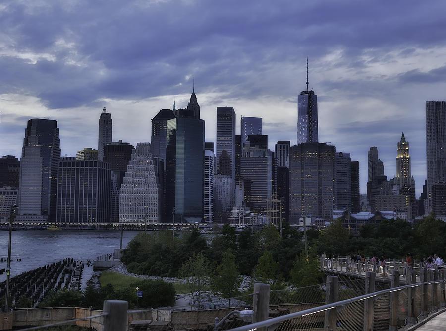 New York Digital Art - Downtown Manhattan From Brooklyn Bridge Park by E Osmanoglu