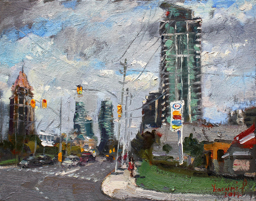 Buildings Painting - Downtown Mississauga ON by Ylli Haruni