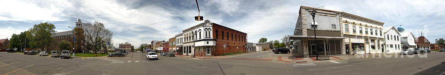 Downtown Photograph - Downtown Montezuma Iowa Panorama by Gregory Dyer