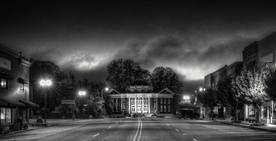 Downtown Murphy Nc In Black And White Photograph by Greg Mimbs