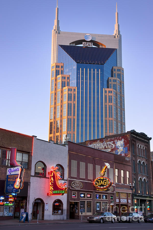 At&t Photograph - Downtown Nashville by Brian Jannsen