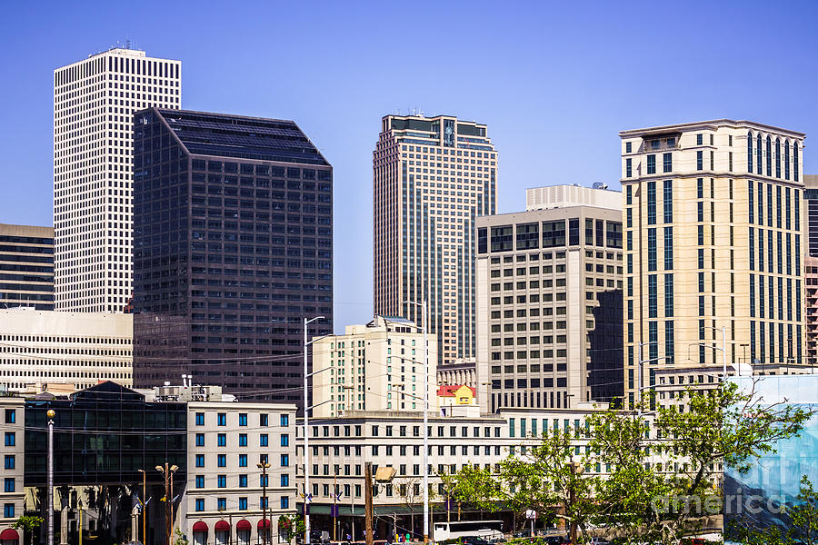 America Photograph - Downtown New Orleans Buildings by Paul Velgos