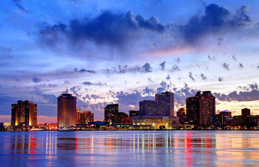 Downtown New Orleans Louisiana Skyline Along The Mississippi River Photograph by DenisTangneyJr