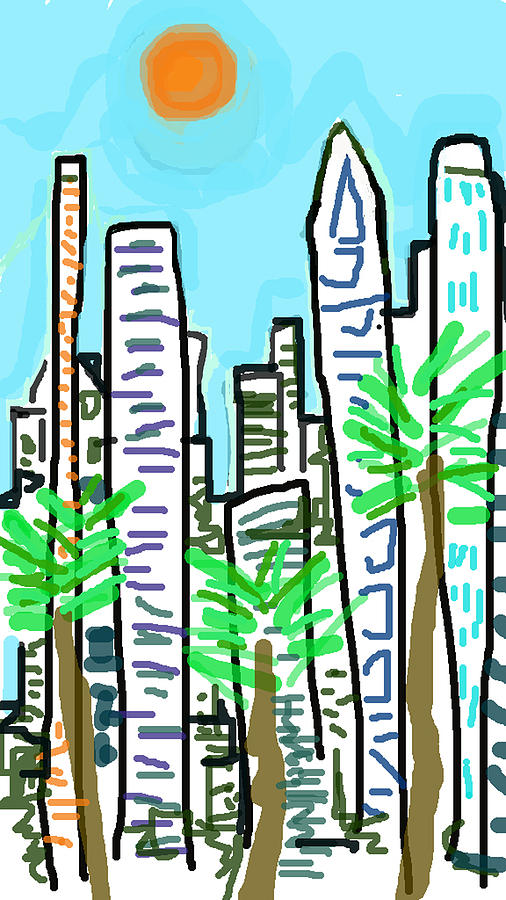 Cityscapes Digital Art - Downtown by Paul Sutcliffe