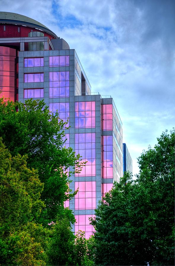 Downtown Photograph - Downtown Reflections 17341 by Jerry Sodorff