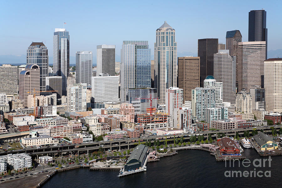 Downtown Seattle Washington City Skyline Photograph By