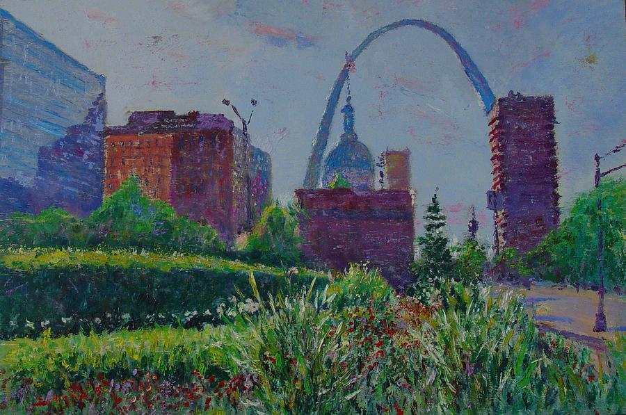 Cityscape Painting - Downtown St. Louis Garden by Horacio Prada