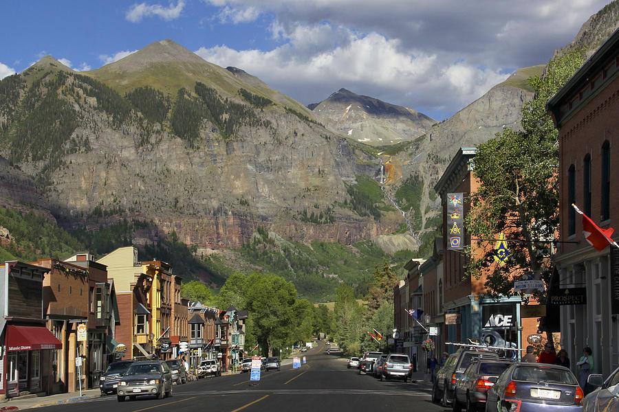 Rocky Mountains Photograph - Downtown Telluride Colorado by Mike McGlothlen