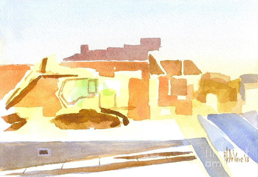 Cityscape Painting - Dozing The Kozy    by Kip DeVore