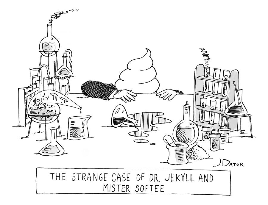 Dr. Jekyll Transforming Into Mister Softee Drawing by Joe Dator