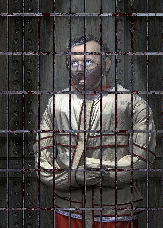 Hannibal Digital Art - Dr. Lecter Restrained by Daniel Hagerman