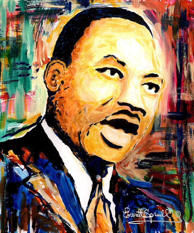Dr Martin Luther King Jr Painting By Everett Spruill