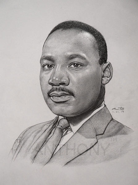 Dr. Martin Luther King Jr. Drawing by Anto