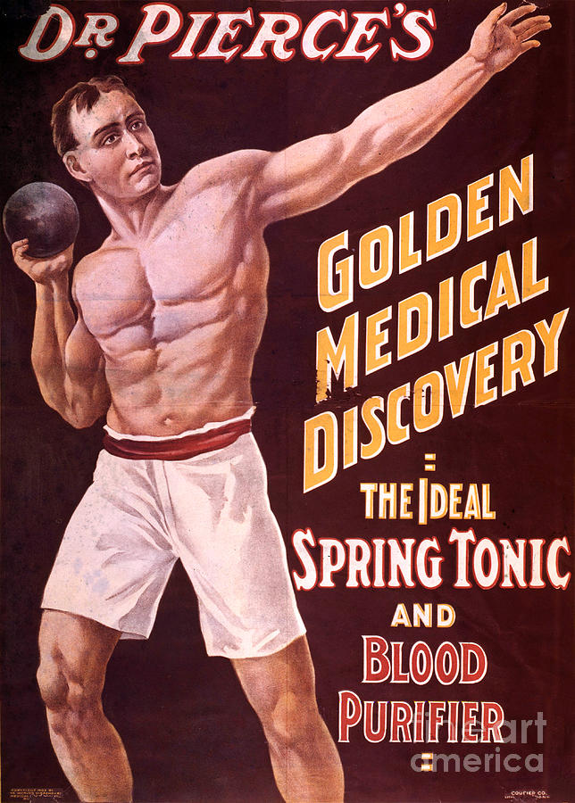 Science Photograph - Dr Pierces Spring Tonic And Blood by Science Source