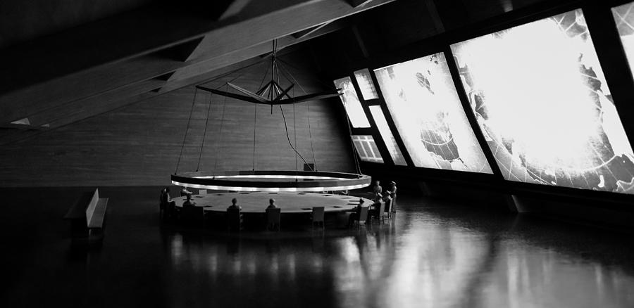 Mike Hope Photograph - Dr. Strangelove - Command Center by Michael Hope
