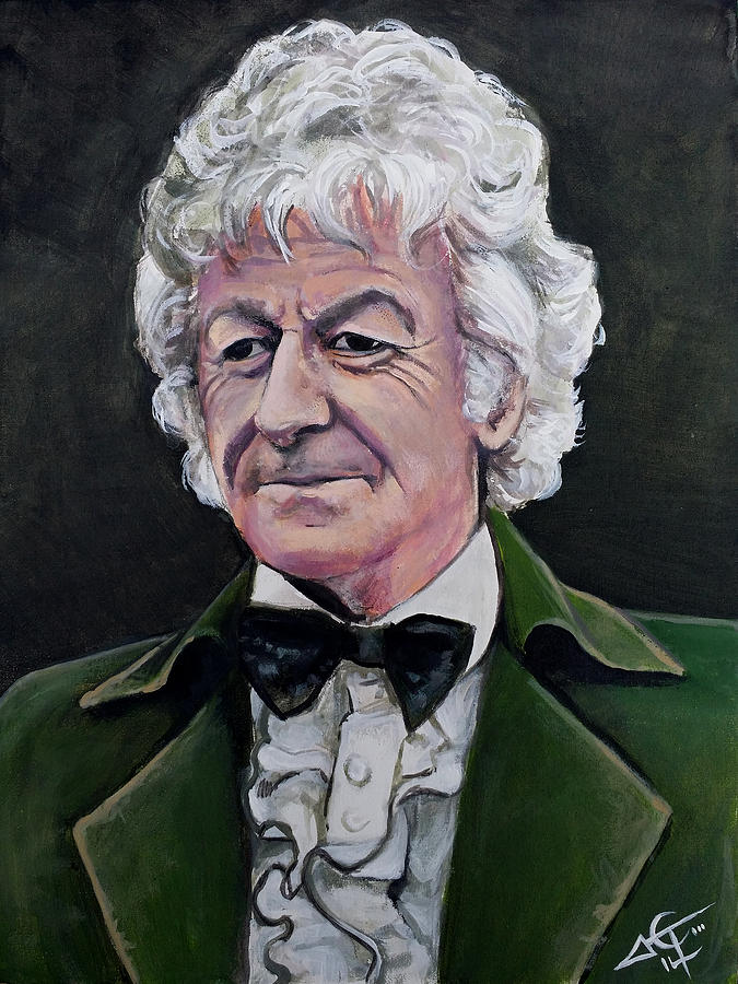 Dr Who 3 Jon Pertwee Painting By Tom Carlton