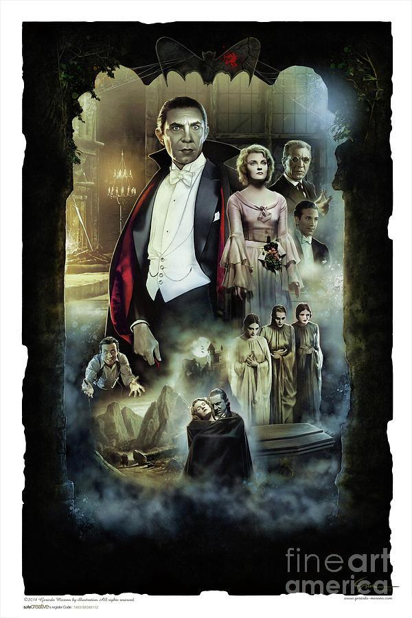 Dracula 1931 Painting by Gerardo Moreno