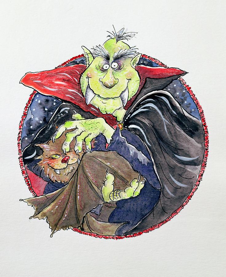 Dracula Painting - Dracula by Maylee Christie