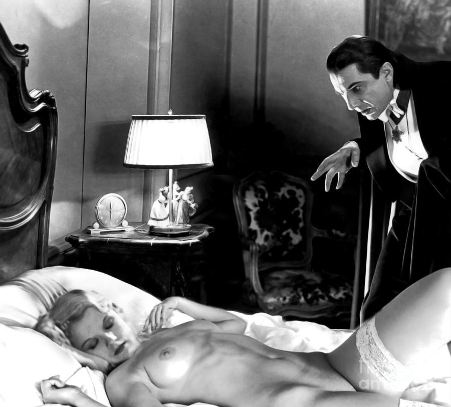 Dracula Photograph - Dracula Bela Lugosi Fantasy Nude by Jorge Fernandez