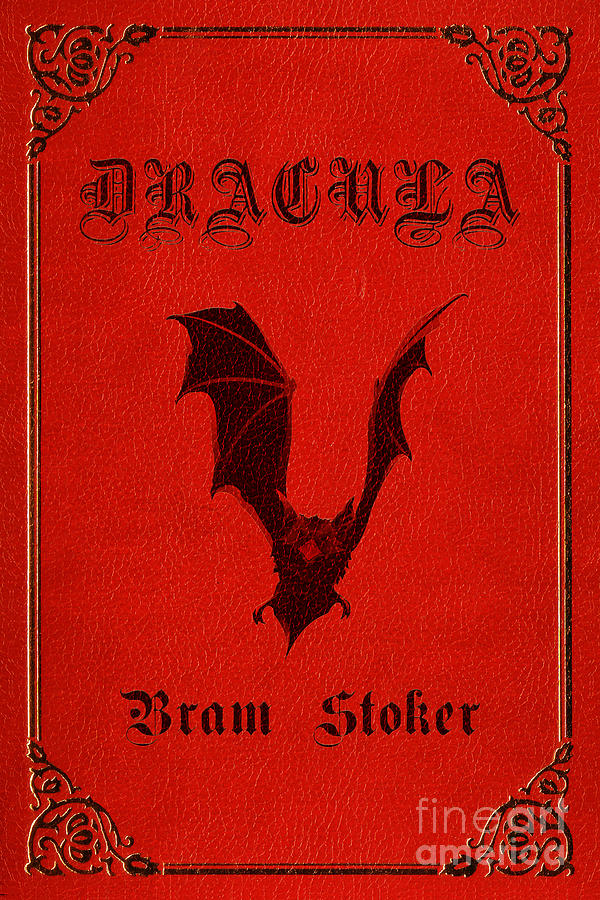 Book Jacket Wall Art : Dracula book cover poster art digital by nishanth