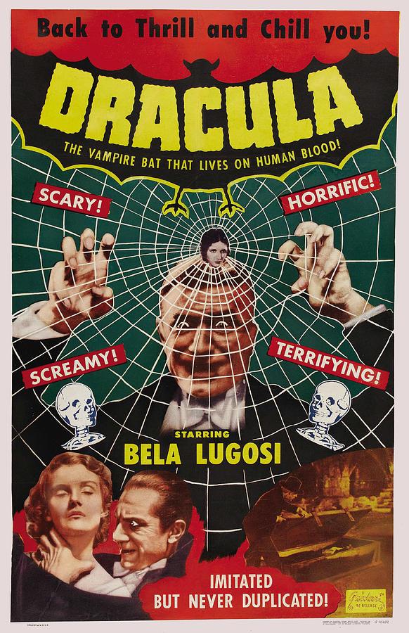 Old Movie Poster Digital Art - Dracula II by Ubknown