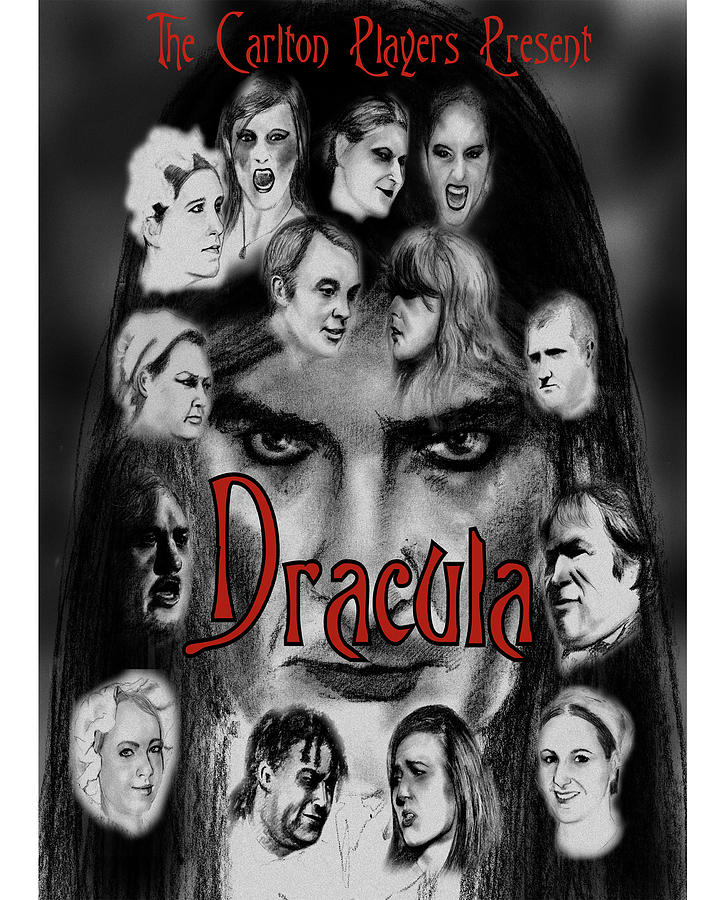 Pencil Drawing Drawing - Dracula by Steve Jones