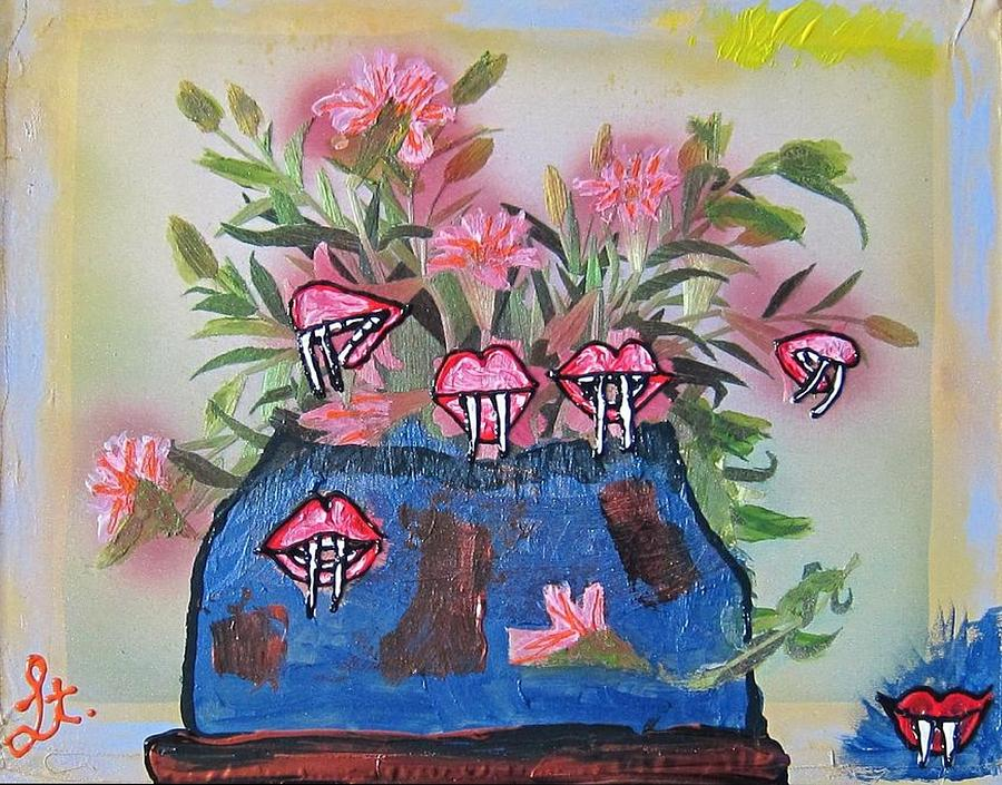 Flowers Painting - Dracula Vampira Orchid by Lisa Piper