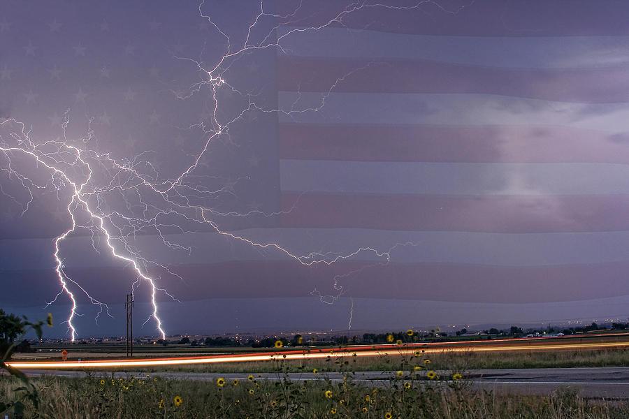 Lightning Photograph - Drag On Usa by James BO  Insogna