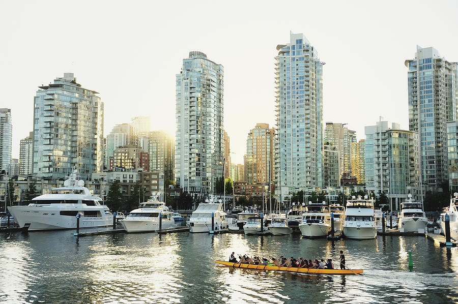 Dragon Boating In Vancouver Photograph by Carlina Teteris