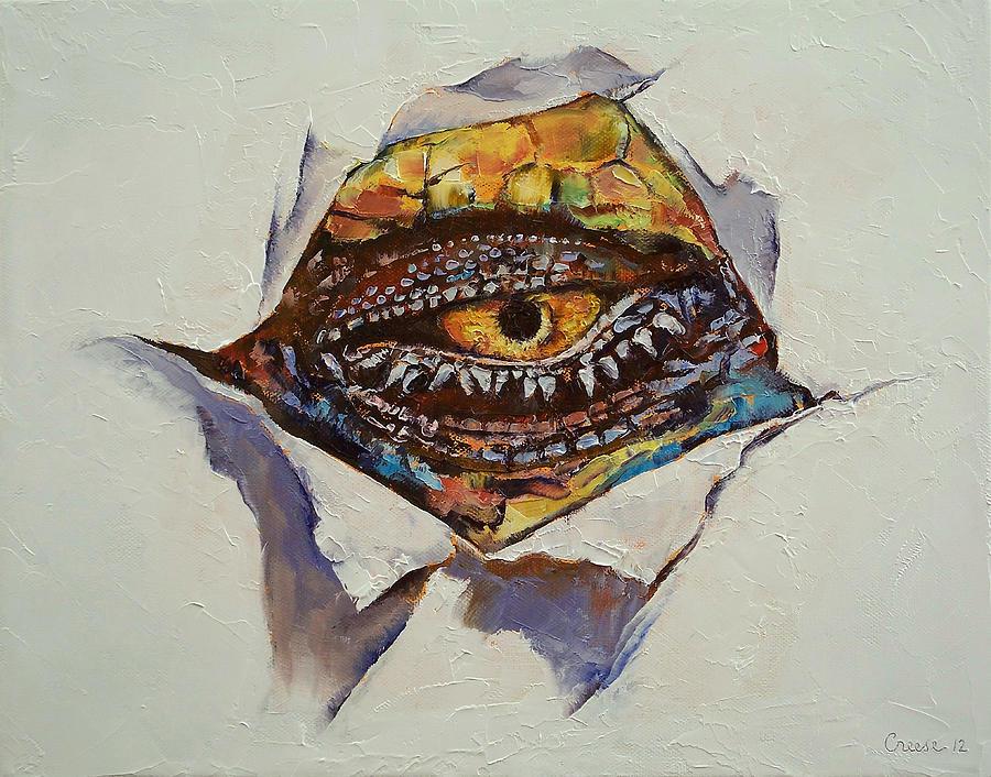 Dragon Eye Painting - Dragon Eye by Michael Creese