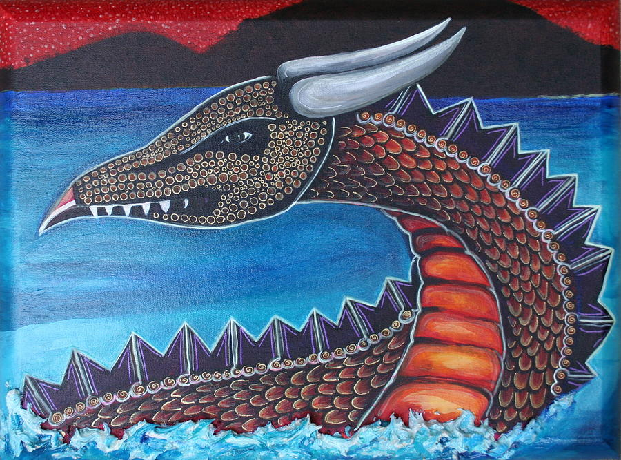 Dragon Painting - Dragon Three by Kate Fortin