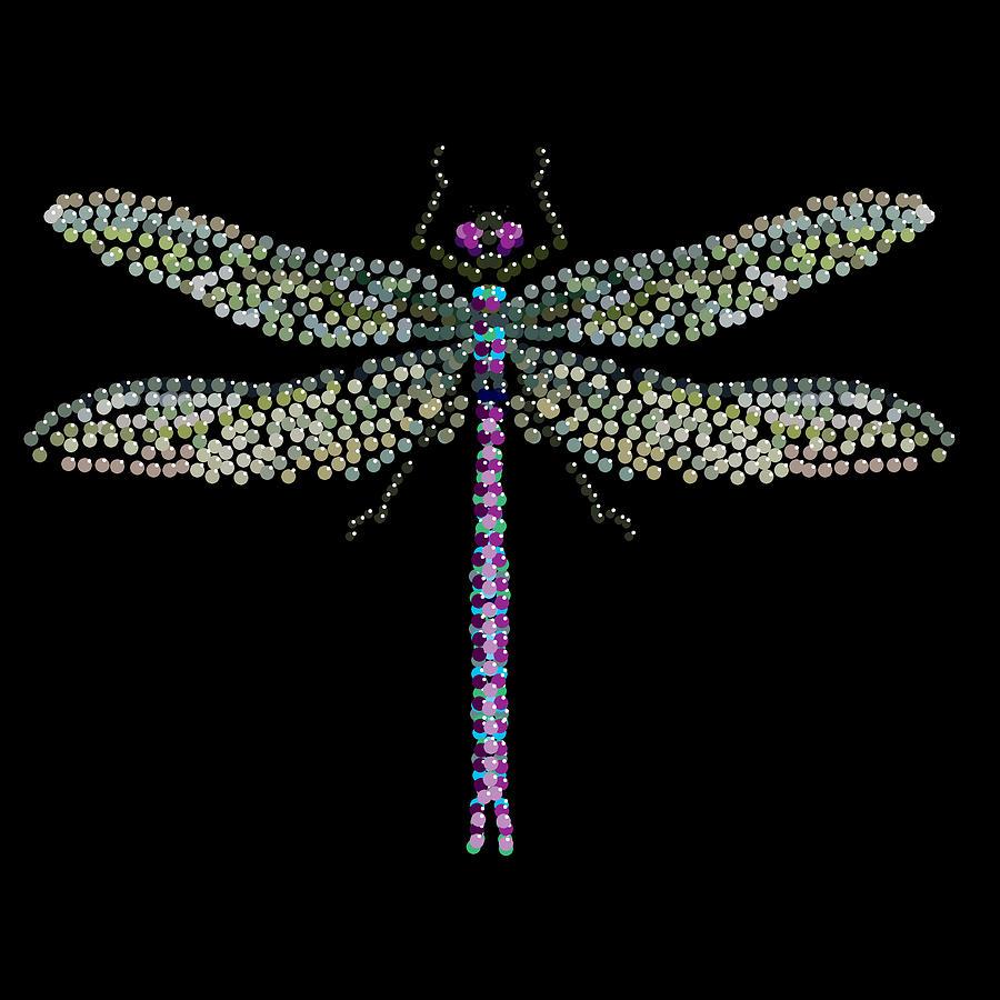 Dragonfly Digital Art - Dragonfly Bedazzled by R  Allen Swezey
