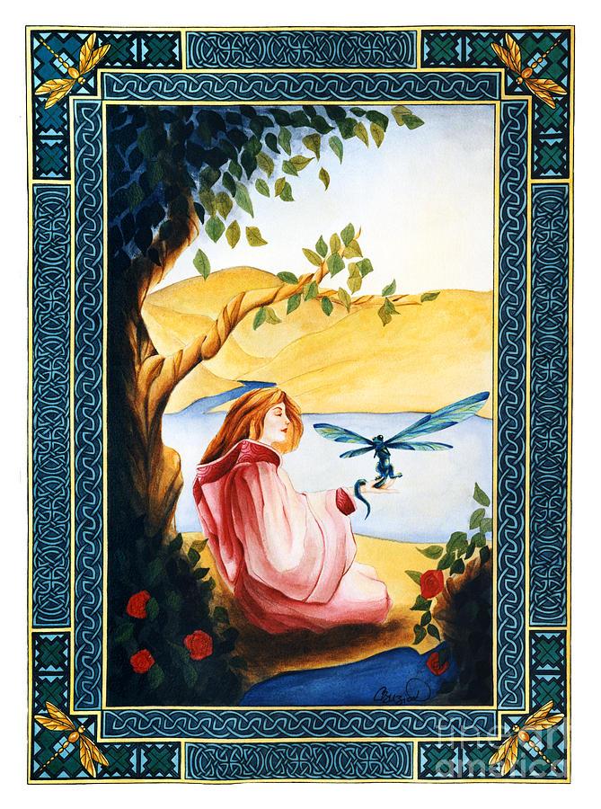 Celtic Painting - Dragonfly by Cari Buziak