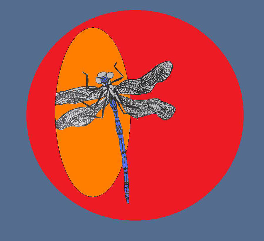 Blue Dragonfly Digital Art - Dragonfly by Cherie Sexsmith