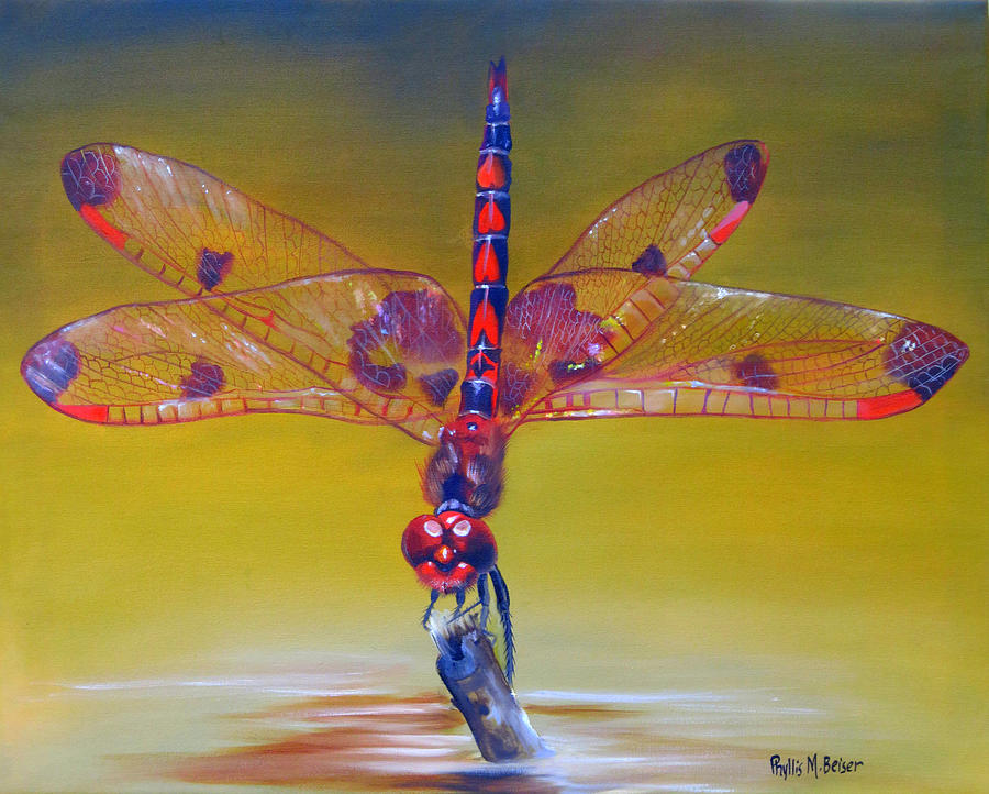 Dragonfly Painting - Dragonfly Colors by Phyllis Beiser