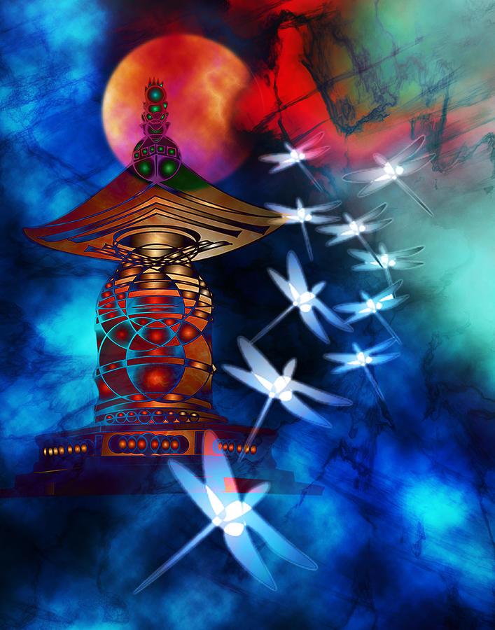 Dragonfly Digital Art - Dragonfly Dance by Bruce Manaka