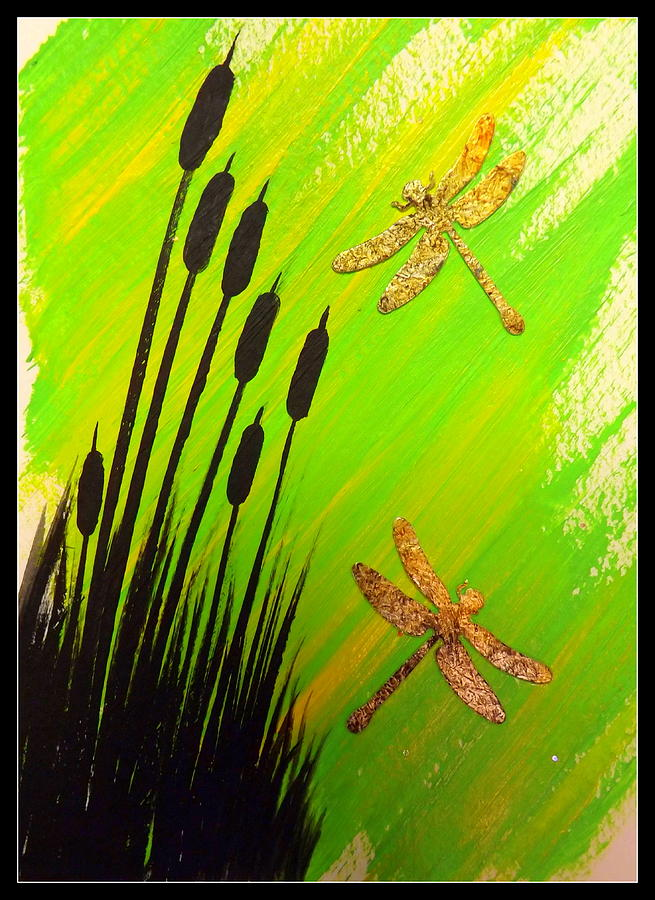 Greeting Cards Painting - Dragonfly Dreams by Darren Robinson