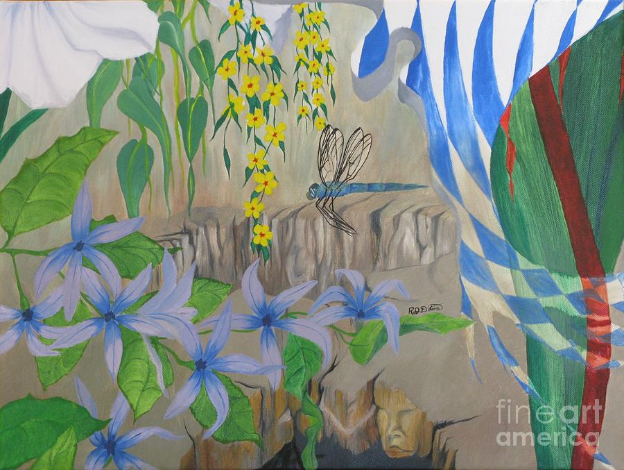 Surrealism Painting - Dragonfly Dreams by Richard Dotson