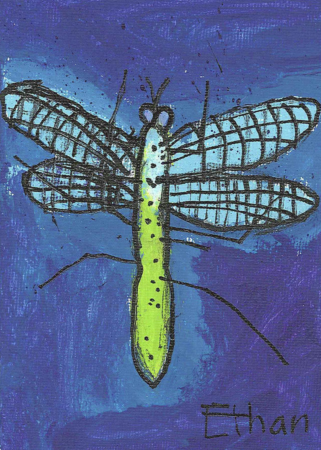 Dragonfly Painting - Dragonfly by Fred Hanna