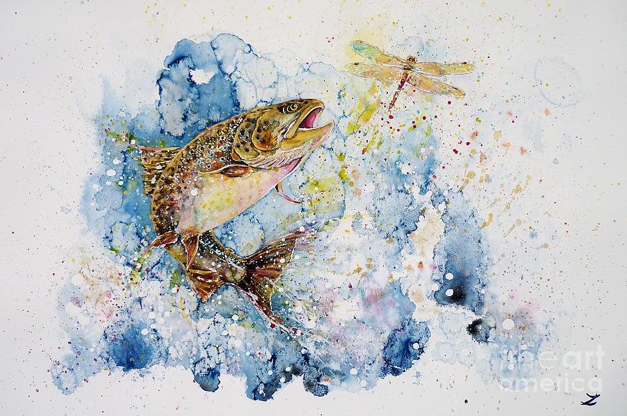 Dragonfly Hunter Painting By Zaira Dzhaubaeva