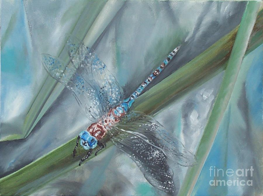 Dragonfly Painting - Dragonfly by Irene Pomirchy