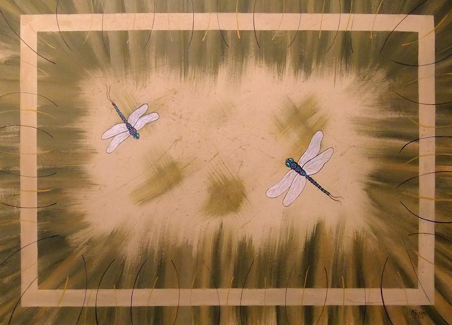 Dragonfly Painting - Dragonfly Meadow by Cindy Micklos