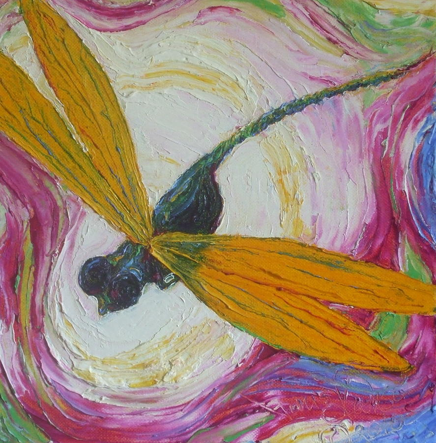 Dragonfly Paintings Painting - Dragonfly by Paris Wyatt Llanso