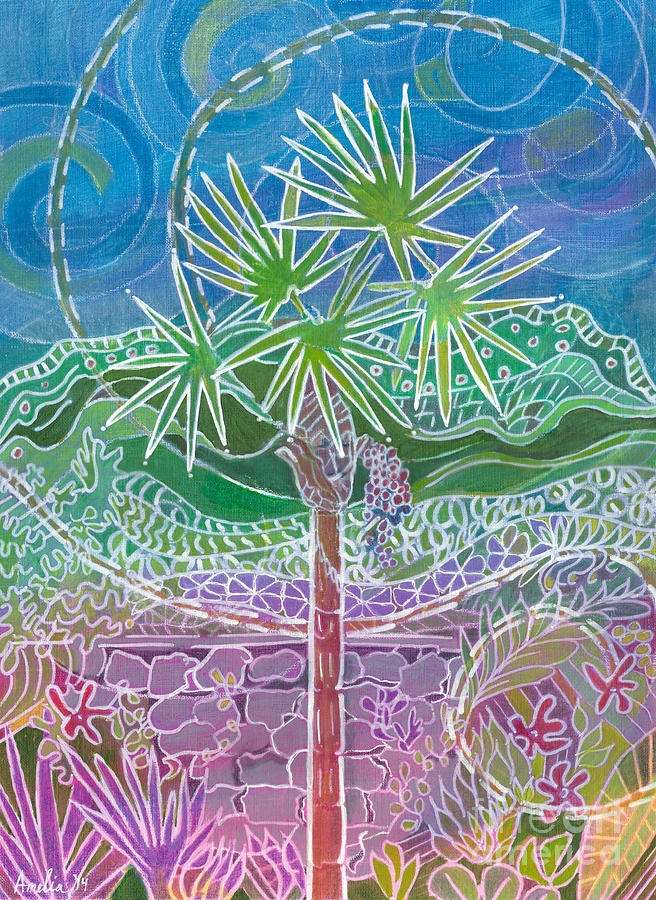 Tree Painting - Dragonfly Trails by Amelia at Ameliaworks