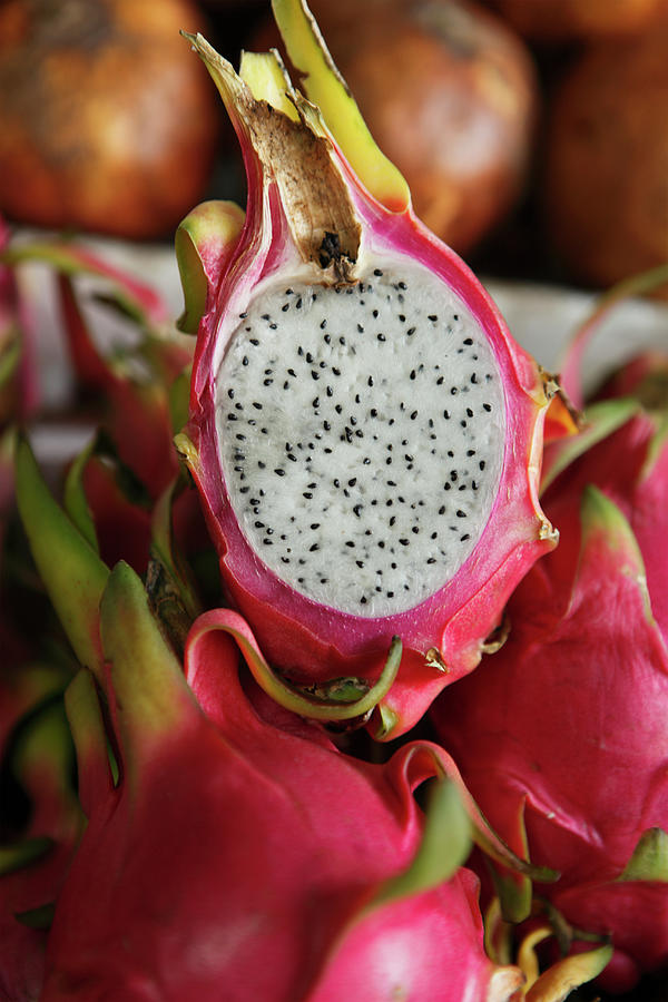 Dragonfruit, Or Pitahaya, In Market Photograph by Paul Taylor