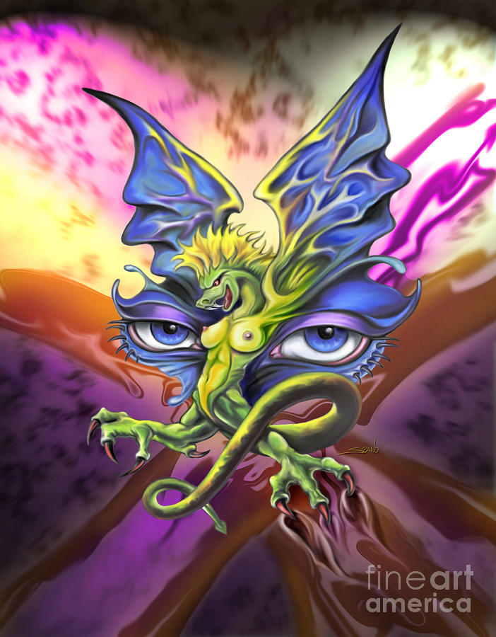 Spano Painting - Dragons Eyes By Spano by Michael Spano