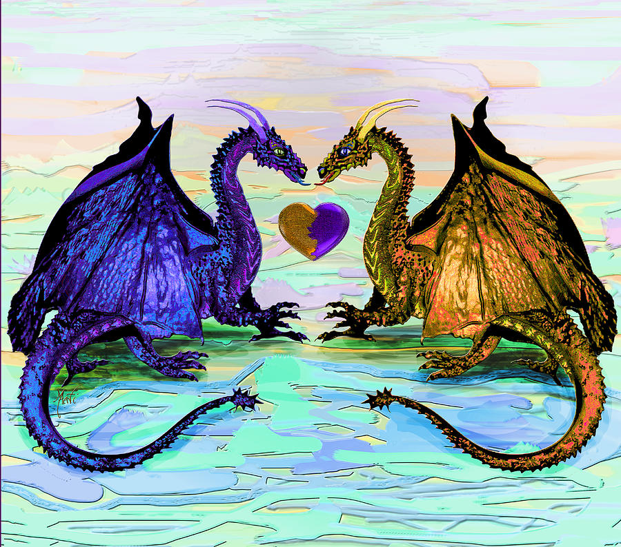 Dragons Love Digital Art