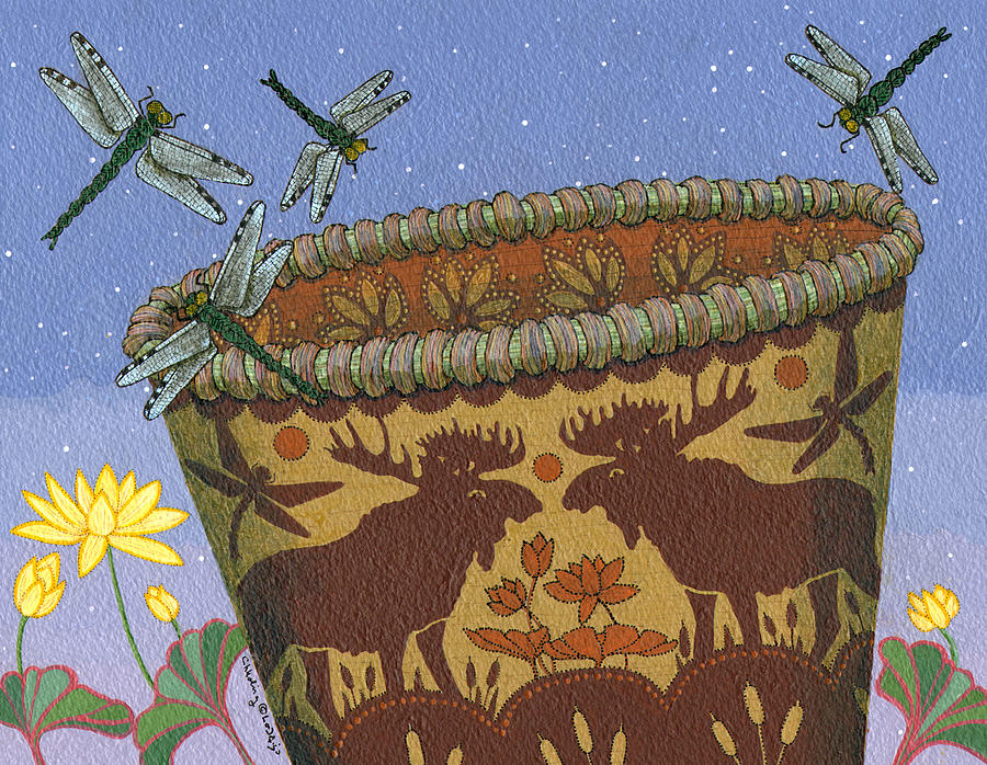 America Painting - Dragonfly - Cohkanapises by Chholing Taha