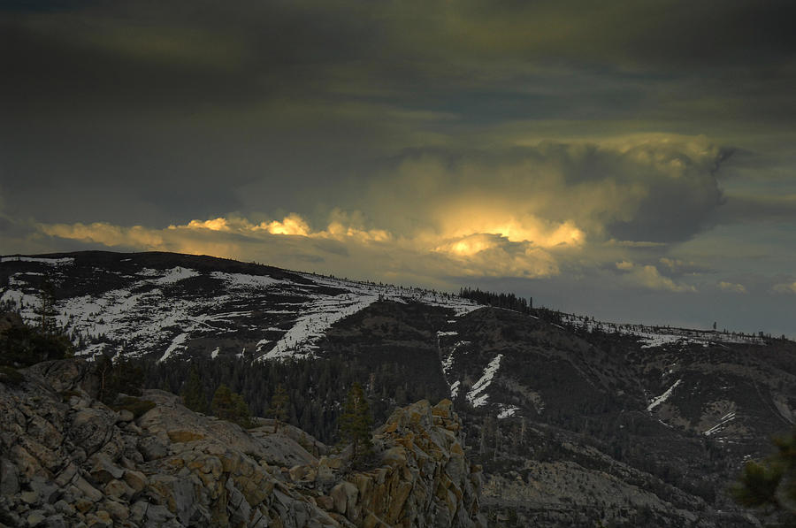 Mountains Photograph - Drama Is Coming by Donna Blackhall